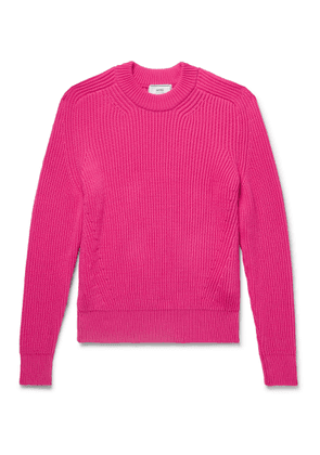 AMI - Ribbed Cotton-blend Sweater - Pink
