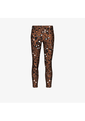 The Upside Womens Brown Tobacco Leopard Print Leggings