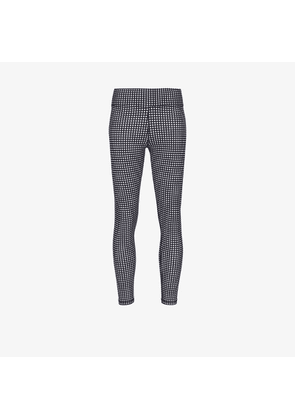 The Upside Womens Blue Gingham Mid-length Leggings