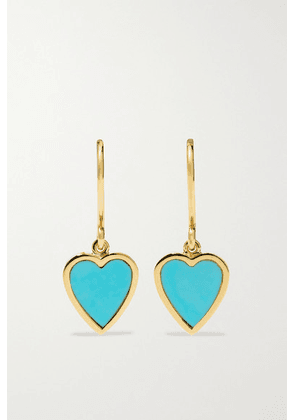 Jennifer Meyer - Mini Heart 18-karat Gold Turquoise Earrings - one size