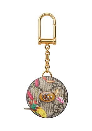 Gucci GG Blooms tape measure keyring - GOLD