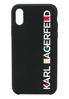 Karl Lagerfeld iPhone XS Max Bauhaus logo case - Black