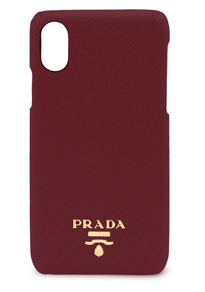 Prada logo plaque iPhone X/XS case - Red