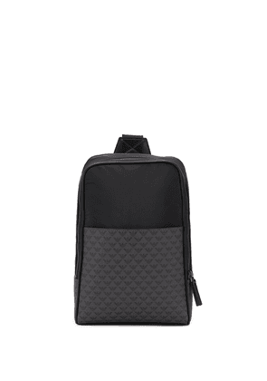 Emporio Armani logo print crossbody bag - Black