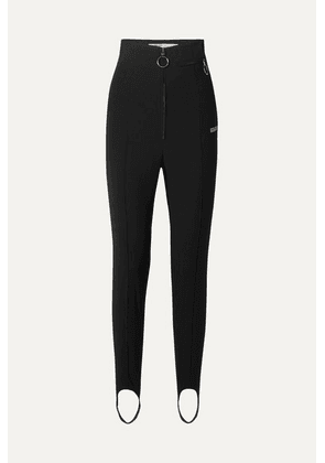 Off-White - Printed Twill Skinny Pants - Black