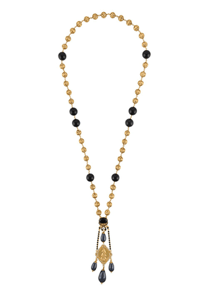 Dolce & Gabbana rosary bead pendant necklace - Black