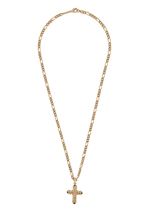 Dolce & Gabbana rhinestone cross pendant necklace - GOLD