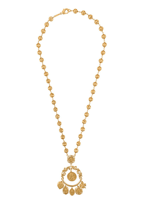 Dolce & Gabbana votive image drop necklace - GOLD