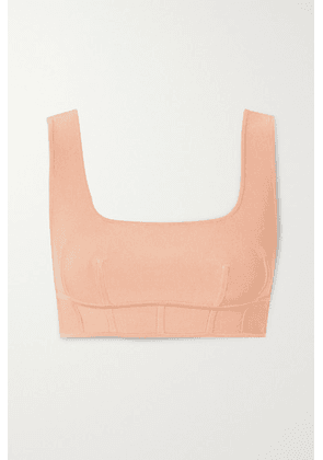Hervé Léger - Cropped Bandage Top - Cream