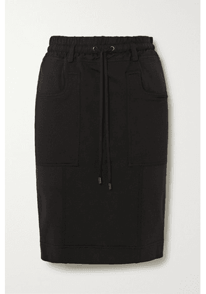 TOM FORD - Paneled Jersey, Twill And Piqué Skirt - Black