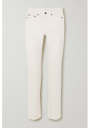 The Row - Ash High-rise Straight-leg Jeans - Ivory