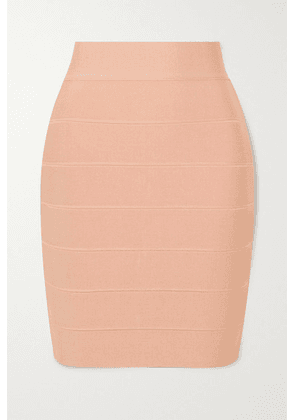 Hervé Léger - Bandage Mini Skirt - Cream