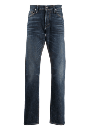 Tom Ford washed straight-leg jeans - Blue