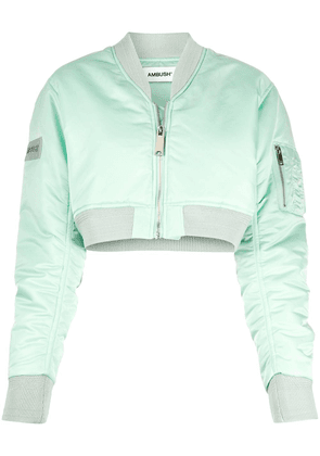 AMBUSH cropped bomber jacket - Green