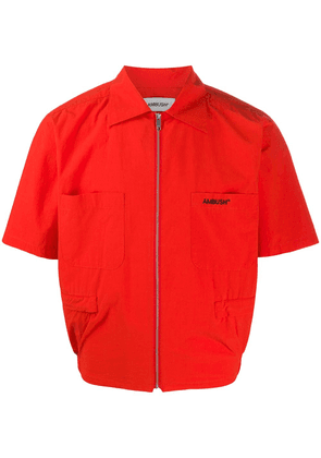 AMBUSH zipped short sleeve jacket - Red