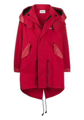 AMBUSH hooded rain coat - Red