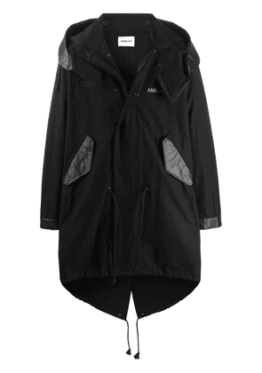 AMBUSH oversized hooded coat - Black