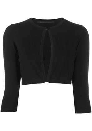 Antonino Valenti cropped fine gauge cardigan - Black