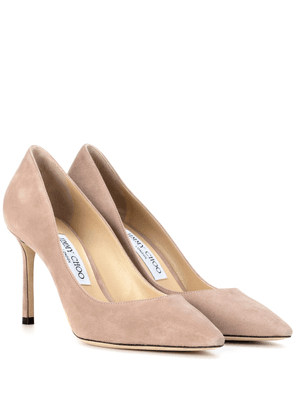 Romy 85 suede pumps
