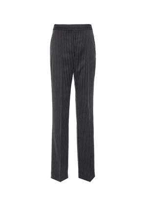 Pinstriped wool trousers