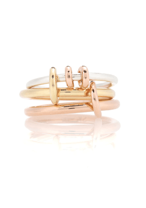 Raneth 18kt gold, 18kt rose gold and sterling silver ring