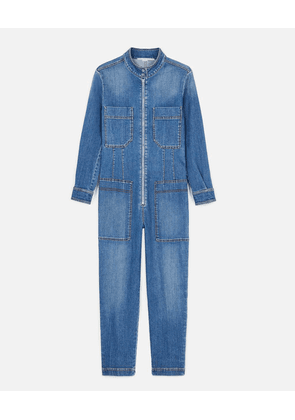 Stella McCartney Blue Denim Jumpsuit, Women's, Size 14