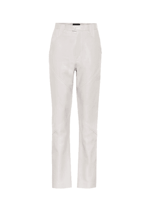 Xenia high-rise leather pants