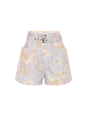 Rike high-rise cotton and linen shorts