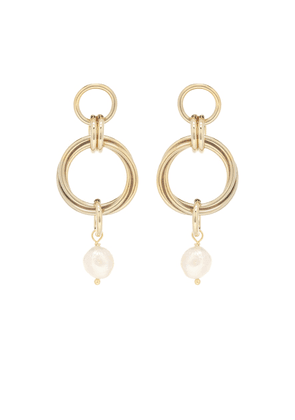 Cedar 24kt gold-plated earrings with pearl