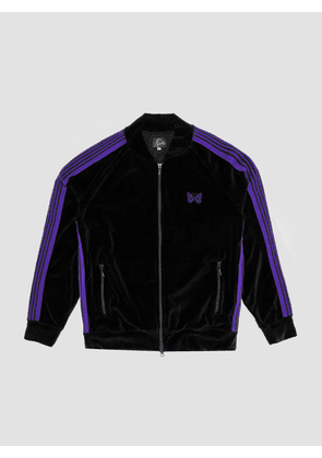 Needles Rib Collar Track Jacket Black