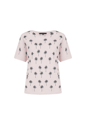 Elie Cotton Palm Tree Top - Lilac Blossom & Charcoal