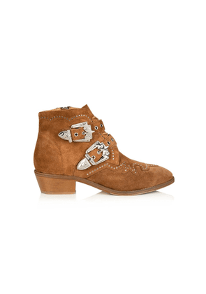 Starlight Suede Studded Ankle Boot - Tan