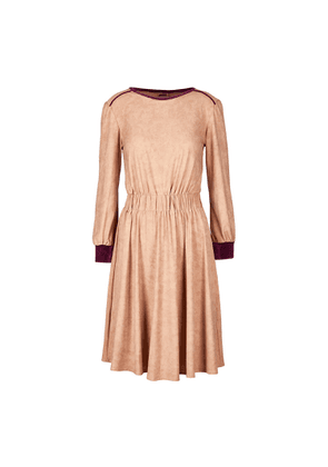 APPAREAL - Michela Suede Hand-Feel A-Line Dress