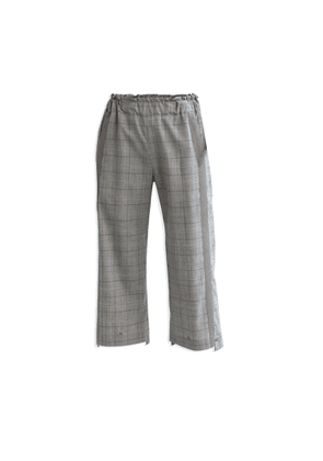 Cleo Prickett - Crop Trouser With Textured Stripe In Glen Check Wool From Savile Row