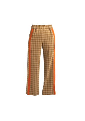 Cleo Prickett - Lux Trouser With Textured Stripe Made From 'Soft Touch' Savile Row Wool