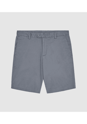 Reiss Wicket - Casual Chino Shorts in Airforce Blue, Mens, Size 28