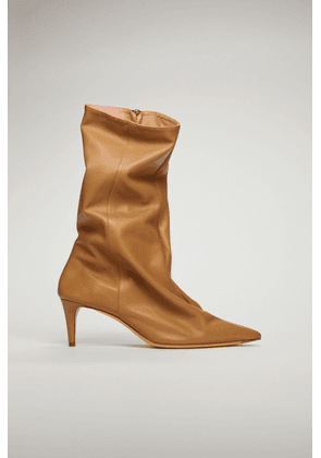 Acne Studios FN-WN-SHOE000276 Camel brown  Leather ankle boots