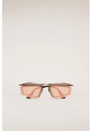 Acne Studios FN-UX-EYEW000040 Gold/pink Double-layer shield sunglasses