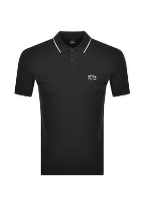 BOSS Athleisure Paul Curved Polo T Shirt Black