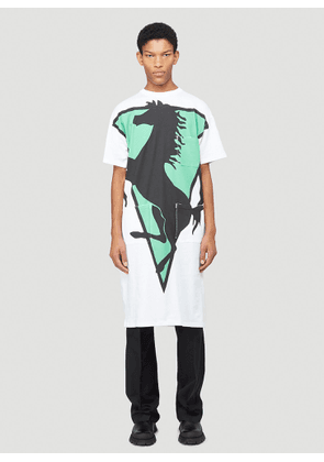 Raf Simons Elongated Labo T-Shirt in White size S