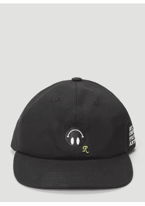Raf Simons Smiley Face Cap in Black size One Size