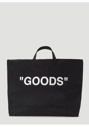 Off-White Oversized 'Goods' Tote Bag in Black size One Size
