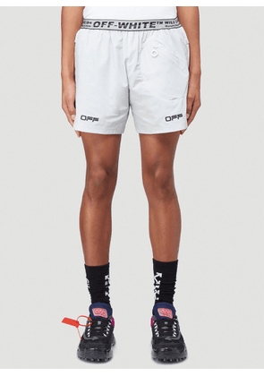 Off-White Active Track Shorts in Grey size XL