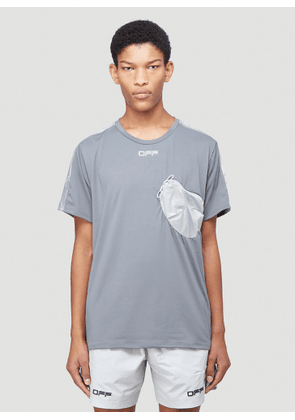 Off-White Active Jogging T-Shirt in Grey size L