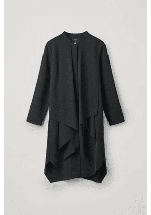 DRESS WITH DRAPED LAYER