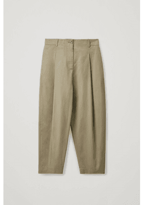 ROUNDED COTTON PANTS