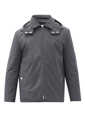 Mackintosh - Dunnet Down-filled Hooded Wool Jacket - Mens - Grey