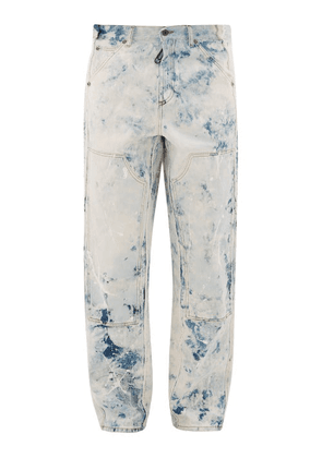 Off-white - Reconstructed Paint-print Carpenter Jeans - Mens - White Multi