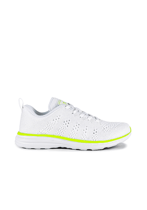 APL: Athletic Propulsion Labs Techloom Pro Sneaker in White. Size 5.5,6,6.5,7,7.5,8,8.5,9,9.5,10.