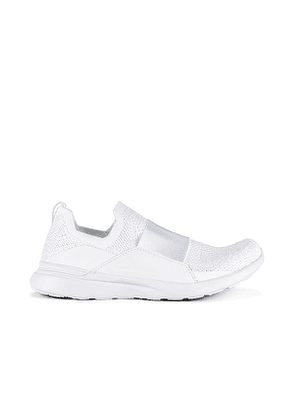 APL: Athletic Propulsion Labs Techloom Bliss Sneaker in White. Size 5.5,6.5,7,7.5,8,8.5,9,9.5,10.